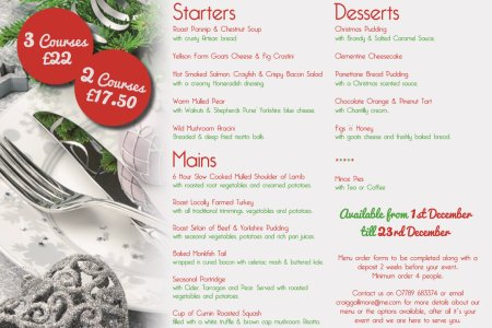 Click image to view a PDF version of our Christmas menu